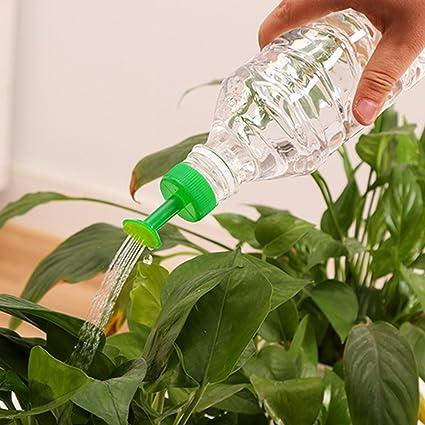 FAVOLOOK 8 piezas de riego de botellas, boquilla de riego de plástico para riego de