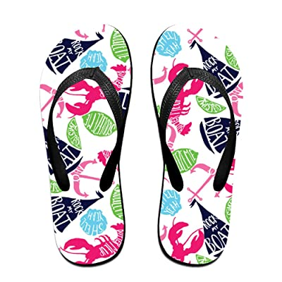 Lobster Summer Holiday Unisex Fashion Beach Slipper Indoor And Outdoor Classical Flip Flop Thong Sandals