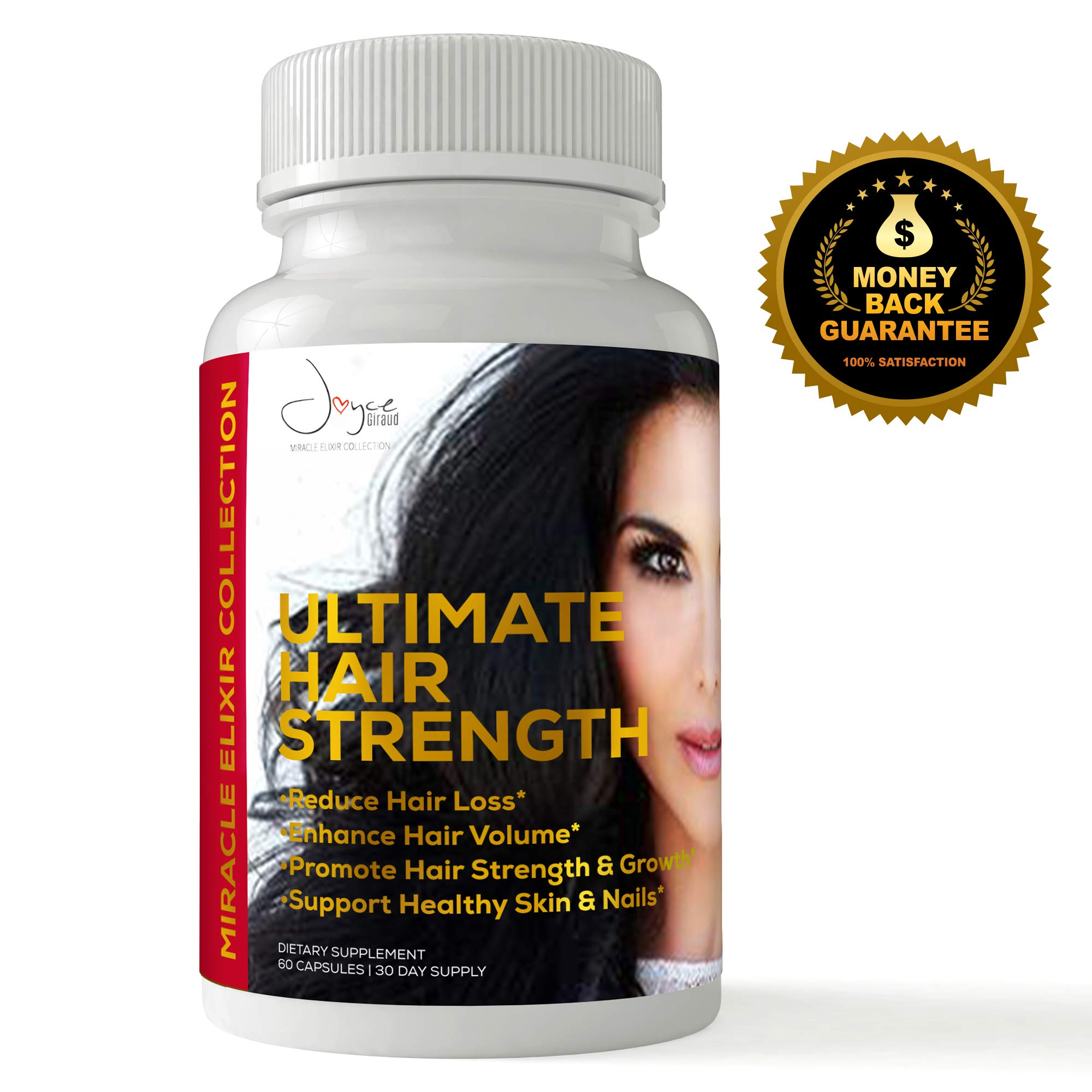 Clinically Proven Ultimate Hair Growth and Strength Supplement (100% Drug Free) Reduces Hair Loss and Thinning. Support Stronger, Longer, and Healthier Hair … (180)