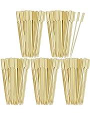COM-FOUR Brochetas de comida para los dedos y cócteles de bambú en diferentes tamaños