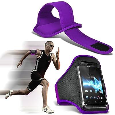 ( Dark Purple ) Samsung Galaxy S5 Sport Universal Sports en cours Arm Band Jogging Débarrasser Bike Cyclisme Gym Housse couverture par Spyrox