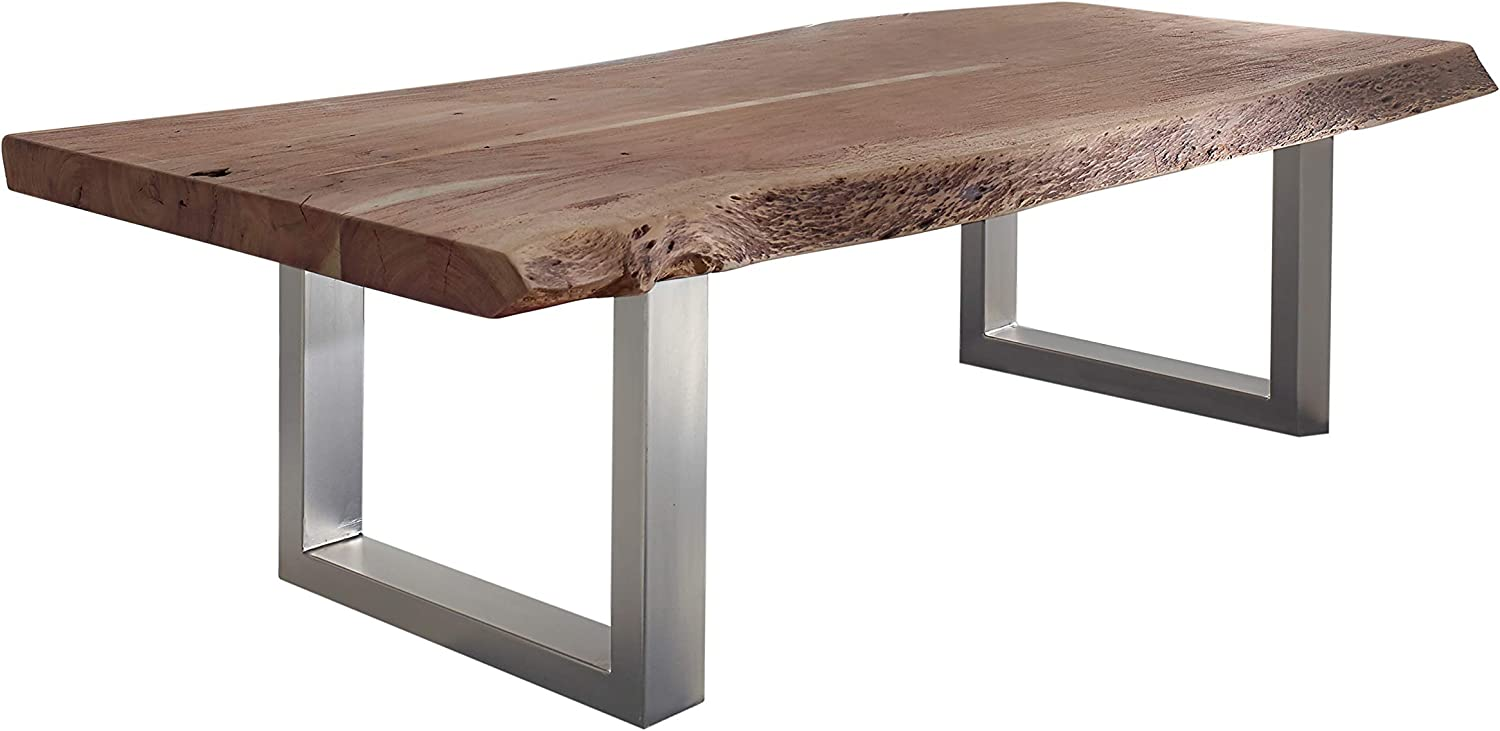 Massivmoebel24 De Solid Coffee Table Baumkante Acacia Solid Wood Furniture 160x70 Solid Furniture Wood Lacquered Country Style Natural Stone Freeform 121 Amazon Co Uk Kitchen Home