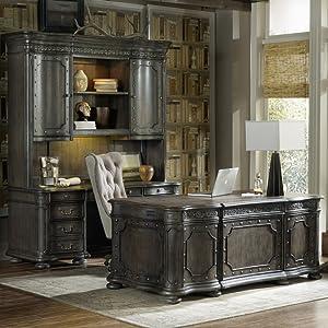 Hooker Furniture Vintage West Executive Desk in Dark Charcoal