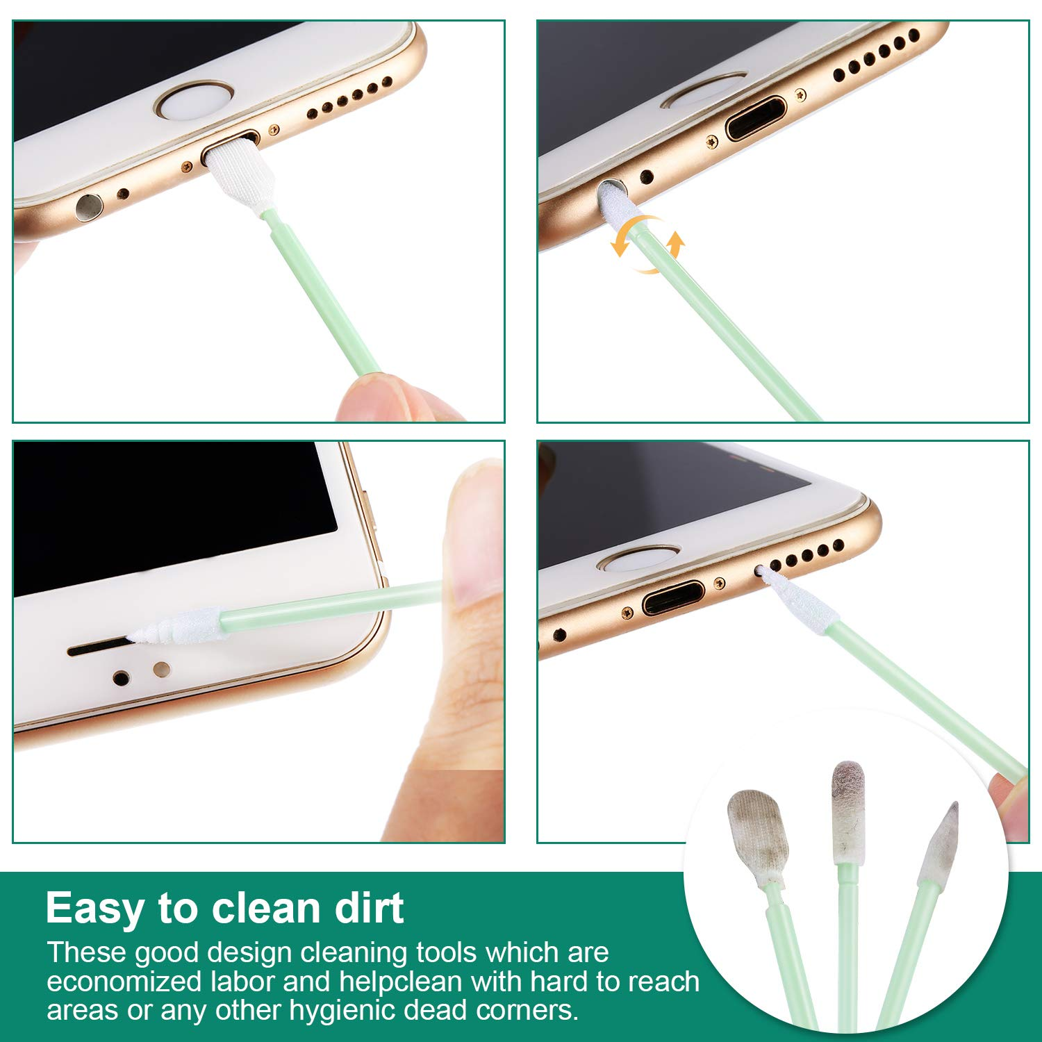 iPad Pro iPad Mini Frienda 32 Pieces Cell Phone Cleaning Kit iPad Include Headphone Jack Cleaning Kit iPhone X USB Charging Port and Dust Plug iPhone 8//7//6//5//4 Compatible with iPhone Xs Max
