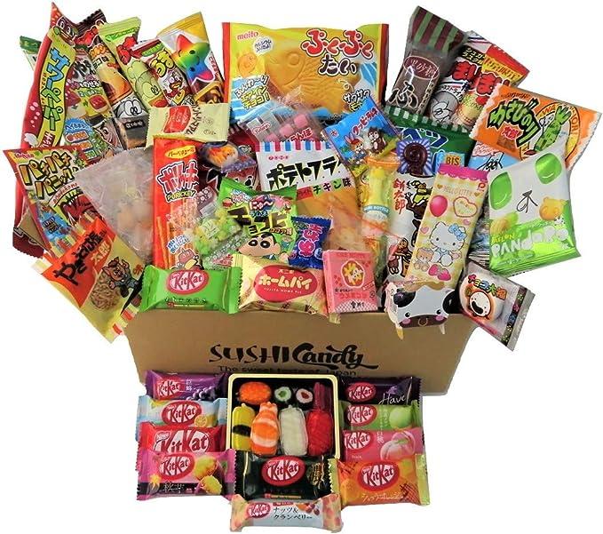 60 Japanese Candy & Snack 10 Sushi Candy Box Set Amezaiku Japanese 10 kit kat Assortment and 40 Other Popular Sweets: Amazon.co.uk: Grocery