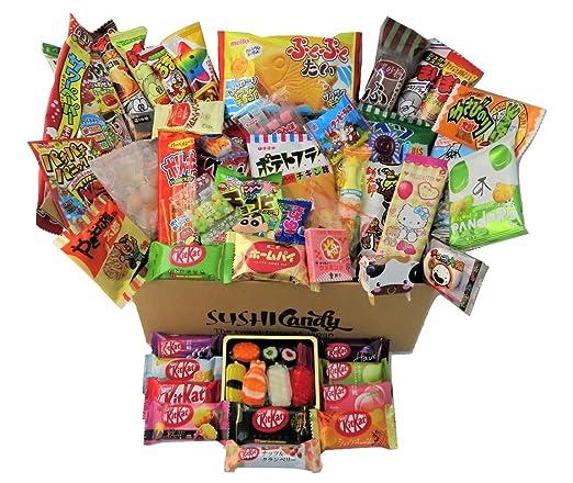 60 japanische Süßigkeiten & Snacks 10 Sushi Süßigkeitenboxen Set Amezaiku 10 japanisches Kit Kat Sortiment und 40 andere beliebte Süßigkeiten: Amazon.de: Grocery