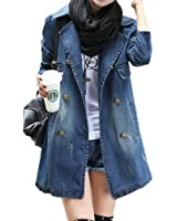 Womens Denim Jacket Coats NEW Spring Turn-Down Collar Long Sleeve Chaquetas Mujer Vintage Loose