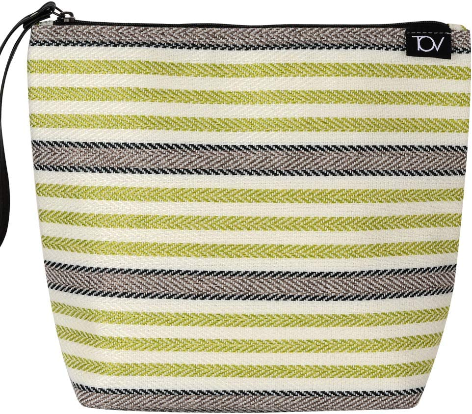 Insulated Reusable Eco Snack bag, Sandwich cooler bag, lunch bag, Food Pouch, Portable Lunch Cooler Bag, Insulin Cooling Case, golf pouch,Waterproof, Work, Picnics, Travel, Men, Woman(Green stripe)