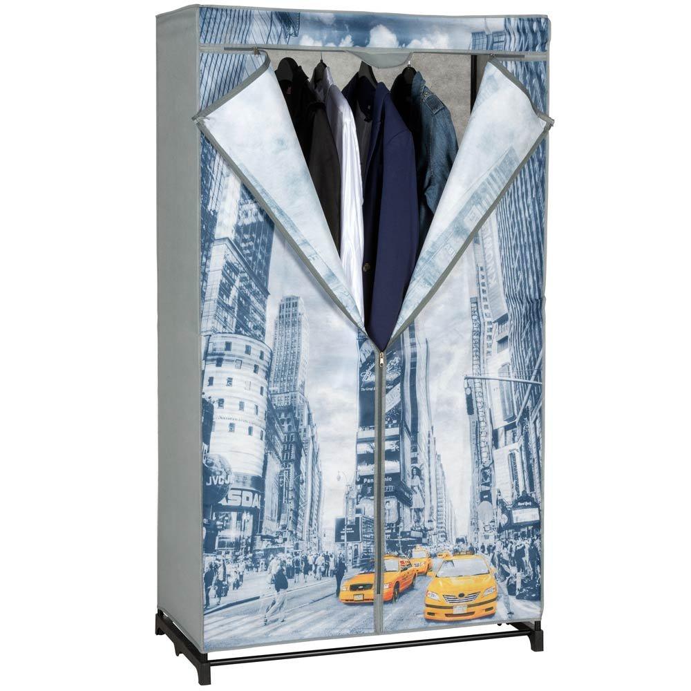 BAKAJI Armadio In Tessuto Guardaroba NEW YORK TAXY Appendiabiti Campeggio 87x45x156cm