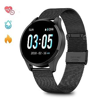 Smartwatch Mujer Hombre Impermeable Reloj Inteligente Monitores de Actividad Impermeable IP67 con Monitor de Sueño Pulsómetros Cuenta de Pasos ...