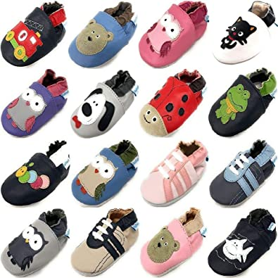 8e0e2cabc954d MiniFeet Prime Chaussures Bébé en Cuir Souple