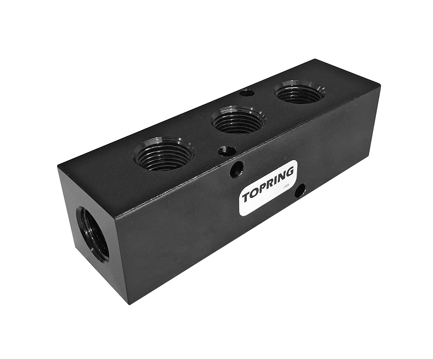 Anodized Aluminium with mounting Holes TOPRING 1000 PSI Multi Port Air Compressor Manifold Block