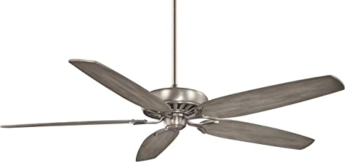 Minka-Aire F539-BNK, Great Room Traditional 72 Ceiling Fan, Burnished Nickel Finish with Seashore Grey Blades