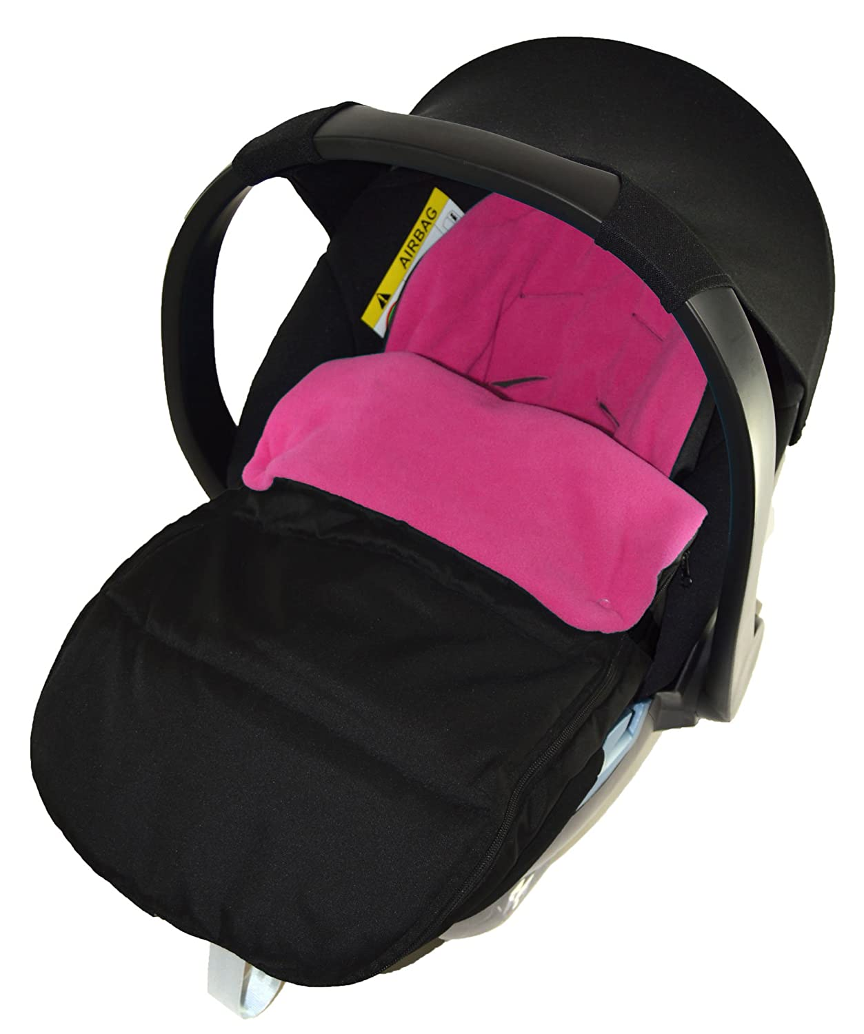 Car Seat Footmuff/Cosy Toes Compatible with Bebecar Easy Maxi Pink Rose For-Your-Little-One
