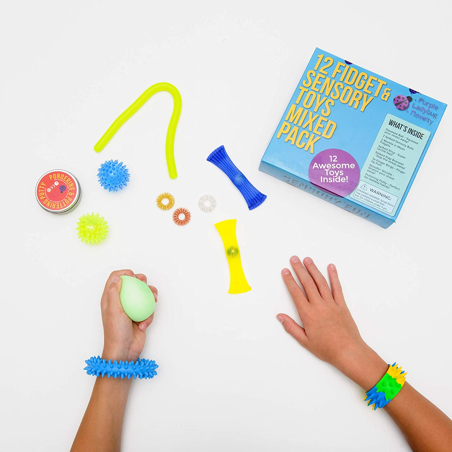 Teens /& Adults Mixed Fidget Toys for Anxiety /& Stress Relief Cool Childrens Toys for Travel Fun Fiddle Toys /& Great Gifts for Girls /& Boys of Any Age Package of 12 Assorted Sensory Toys for Kids