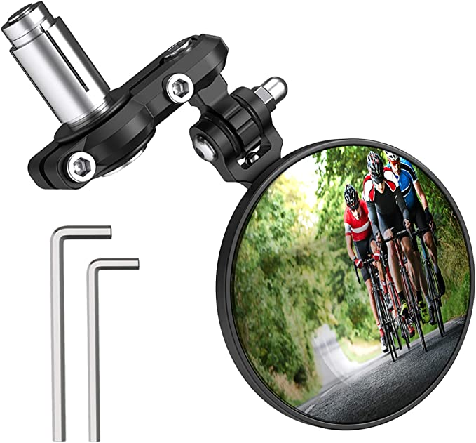 Rotatable Handlebar Rearview Mirror For Bike Bicycle Cycling Mirror Rear E2T3