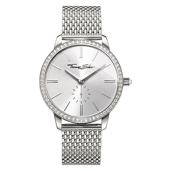 Thomas Sabo Reloj para mujer Glam Spirit Plata WA0316-201-201-33 mm: Amazon.es: Relojes