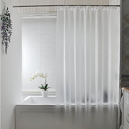 Shower Curtain Wekity PEVA Eco Friendly Thickening Waterproof Water Repellent And Mildew Proof