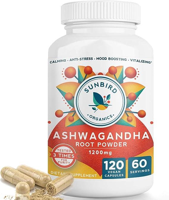 Ashwagandha 7/% 500mg 60 Vegetarian Capsules Raw Powders