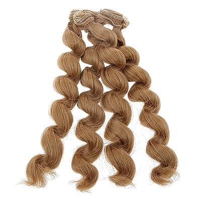 15x100cm DIY Poupée Perruque Bouclés Cheveux Postiches pr 1/3 1/4 1/6 Barbie BJD SD Dolls Décor - #4