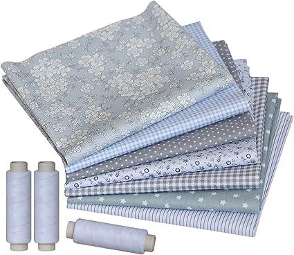 Assorted Pre-Cut Cotton 100 Pcs Squares Bundle Quilt Fabric 5 x 5 Patchwork for DIY Scrapbooking Artcraft Project