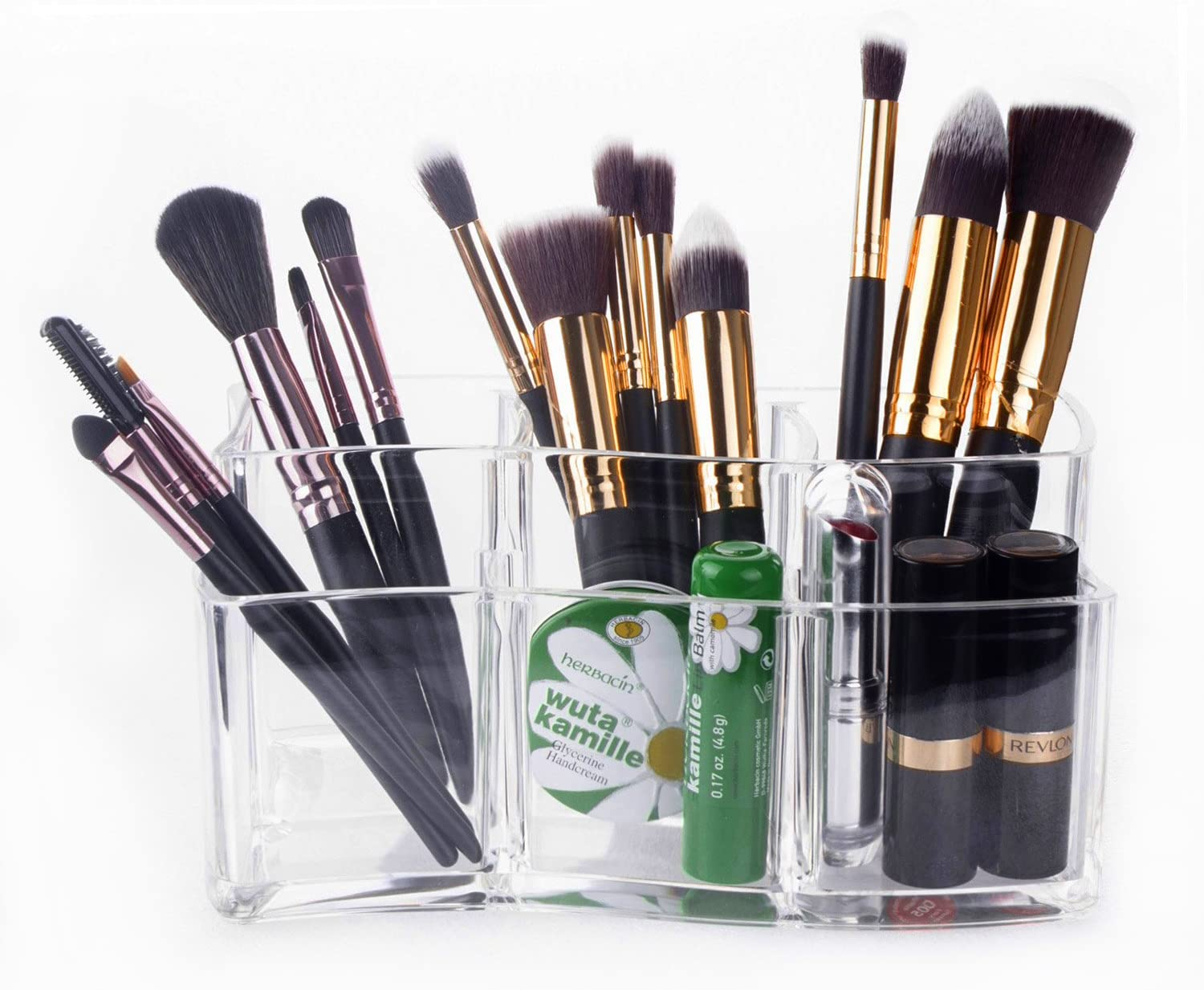 Makeup Brush Holder \u2013 Meersee Acrylic Makeup Organizers Cosmetic Brush  Cylinder Clear