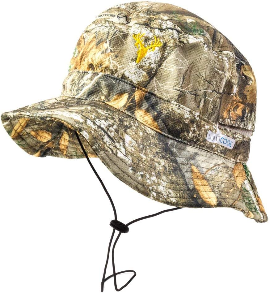 BUILTCOOL Men s Camo Bucket Boonie Hat Realtree Hunting Fishing, One Size