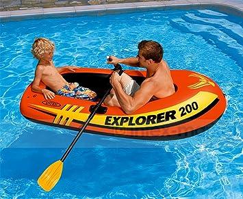 Lvmiao INTEX Explorer Bote Inflable para Dos Personas Flotador Flotante Inflable Flotante, Flotador Inflable Estupendo Grande del Flotador Flotante (73In ...