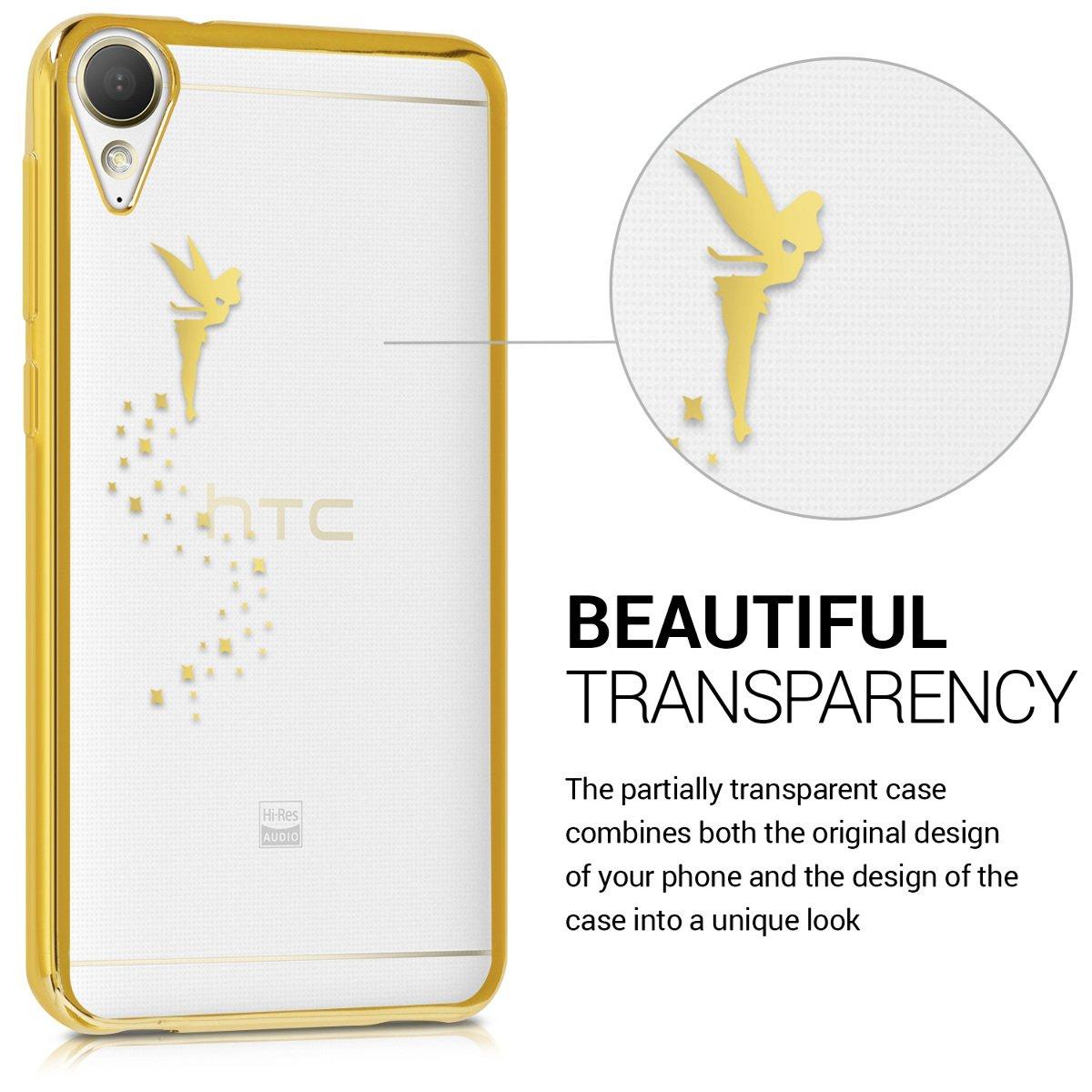 b9385837db6 kwmobile Funda para HTC Desire 10 Lifestyle - Carcasa [Trasera] de [TPU]  con diseño de Hada en [Dorado/Transparente]: Amazon.com.mx: Electrónicos