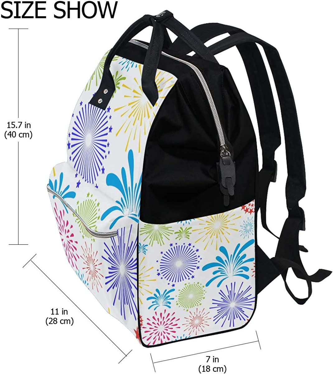 imobaby Multicolored Firework Changing Bags Large Capacity Handbags Canvas Shoulder Bag Backpack