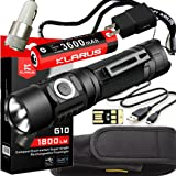 Klarus G10 SUPER BUNDLE w/G10 Rechargeable LED Flashlight, 18650 Battery, Holster, Lanyard, USB Charging Cable, USB Wall Adapter, USB Car Adapter, and Mini USB Light