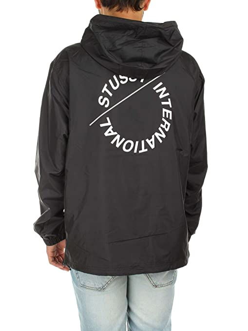Stussy black popover jacket