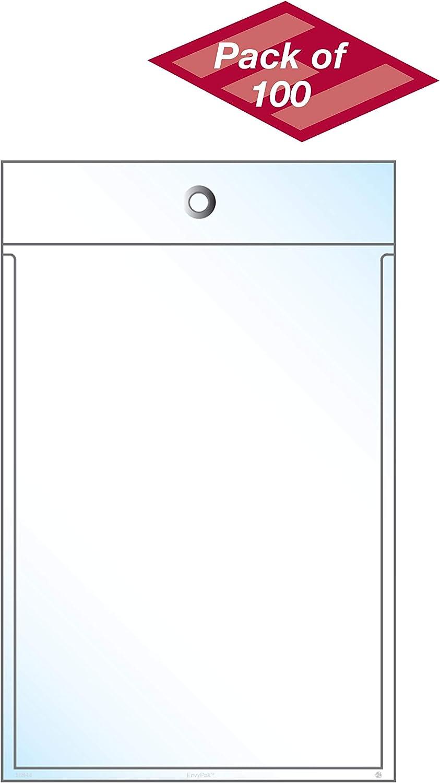 """EnvyPak Retail Tag Holders - 4.44"""" x 6.34"""" - Box of 100"""