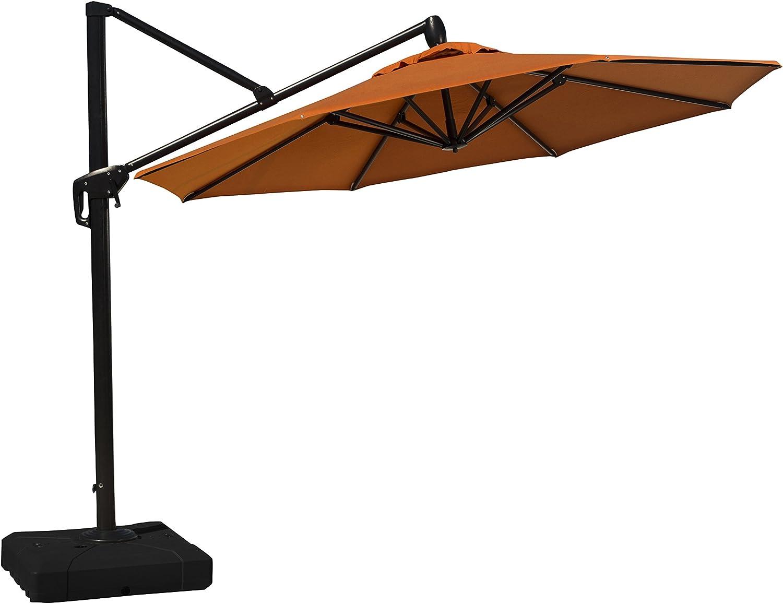 RST Brands Modular Outdoor Round Umbrella, 10', Tikka Orange
