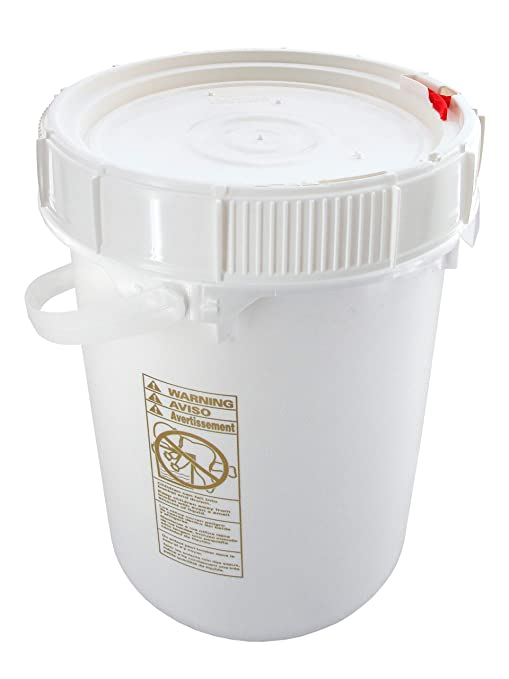 Bucket Kit, One Pre-threaded White 5-gallon Bucket with a Ratcheting  Screw-on Lid (Not Gamma)