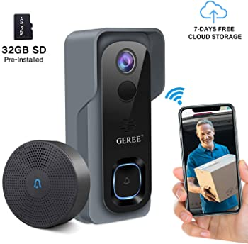 Geree 1080P HD Security Wireless Smart Camera Doorbell