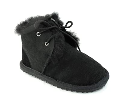 a4c70f3b1 CooL BeanS Boys/Girls Sheepskin Winter Snow Boots, Genuine Leather/Fur (Baby