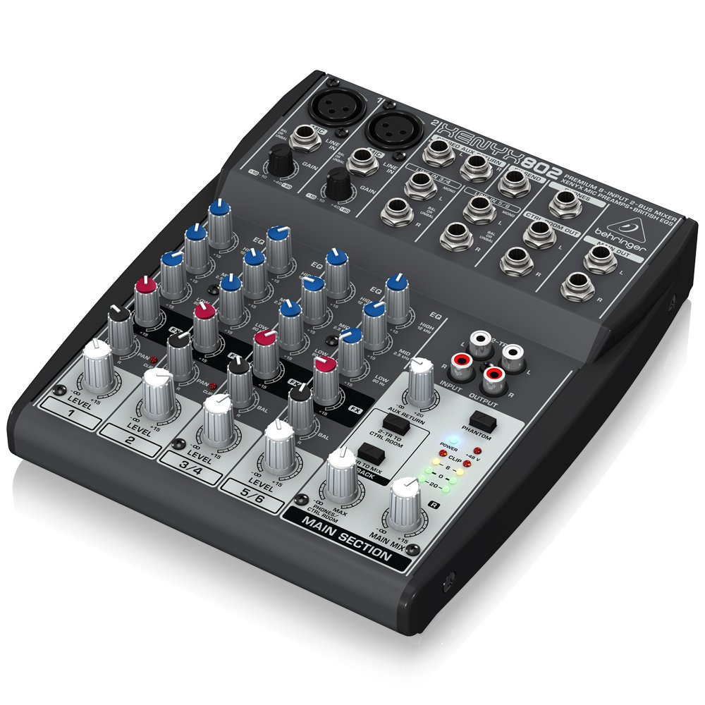 Behringer Xenyx 802 Premium 8 Input 2 Bus Mixer With Simple Microphone Circuit Op Amp Mic Pre Preamps And British Eqs Musical Instruments
