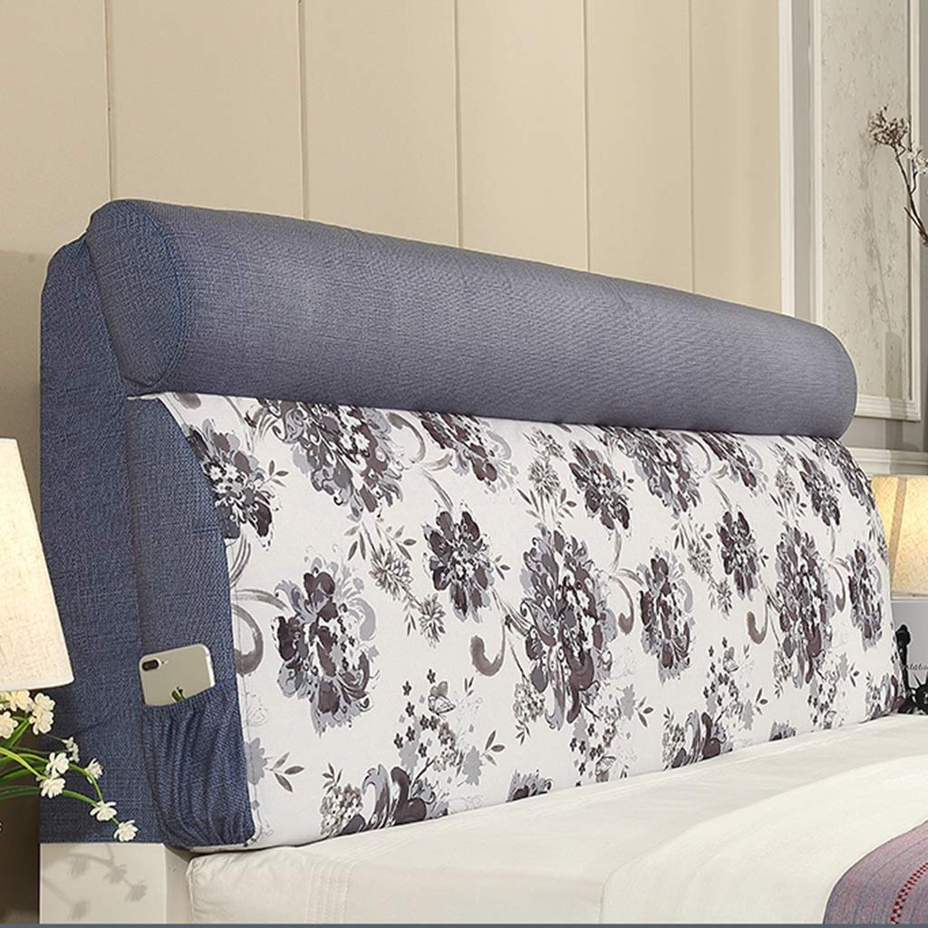 ベッドクッションヘッドボード ベッドヘッドボード ソフトパック 畳ベッドヘッドクッション ダブルベッド ソフトパック ベッドバックレスト 枕カバー 3色 複数サイズ 155 60 185*60 185*60 C B07MRKD1J8
