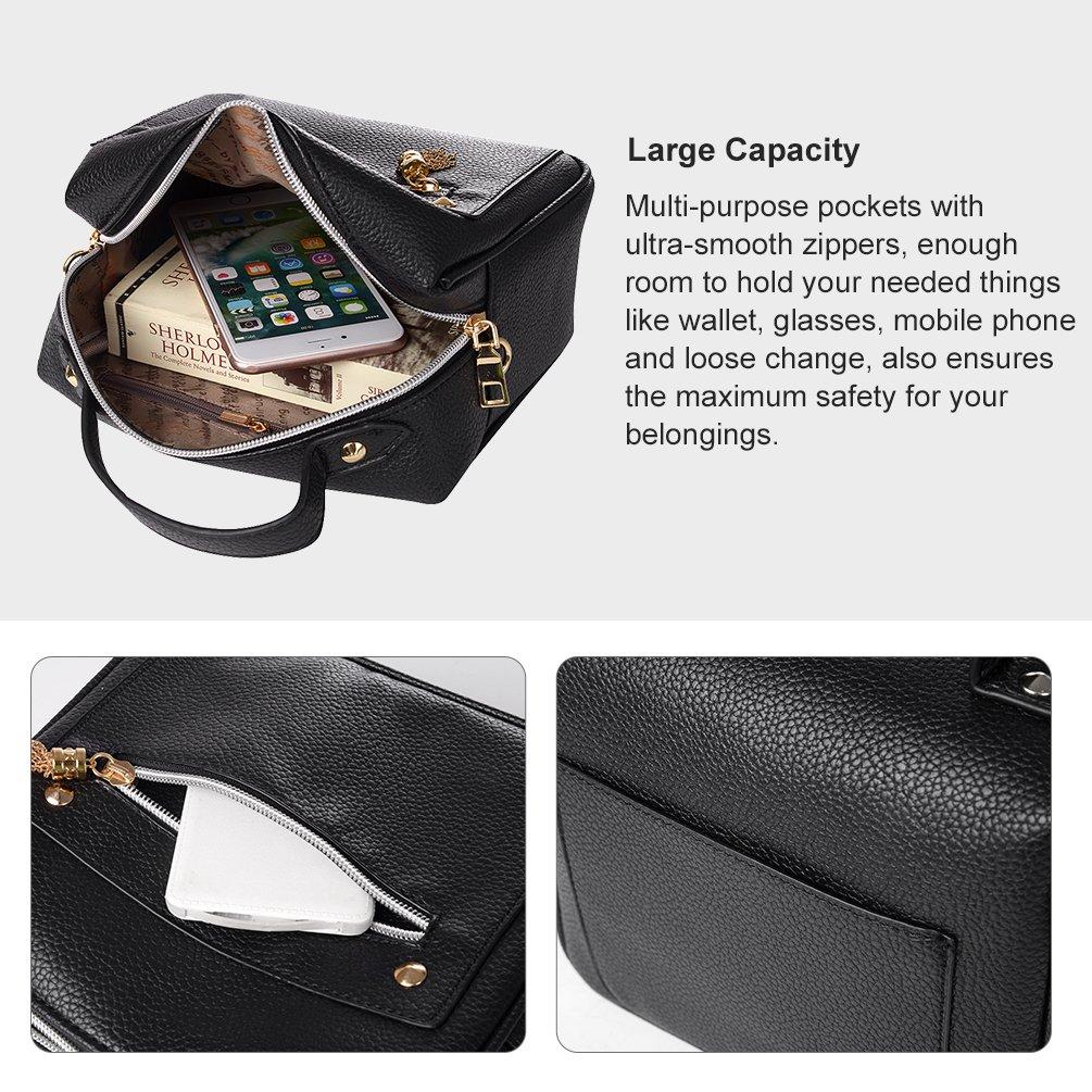 Vbiger Modische Kuriertaschen Schick PU Leder Schultertasche Lässig Umhängetasche Durable Handtasche für Frauen