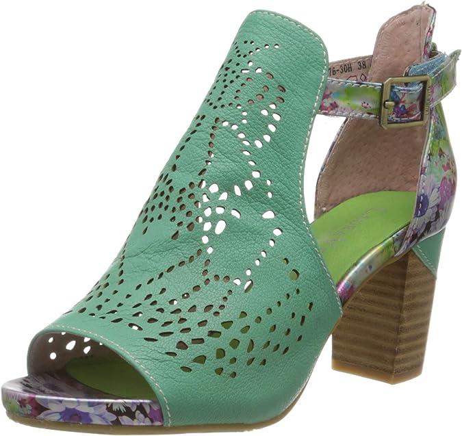 LAURA VITA BECRNIEO230Blanc Chaussures Femmes Cuir Sandales