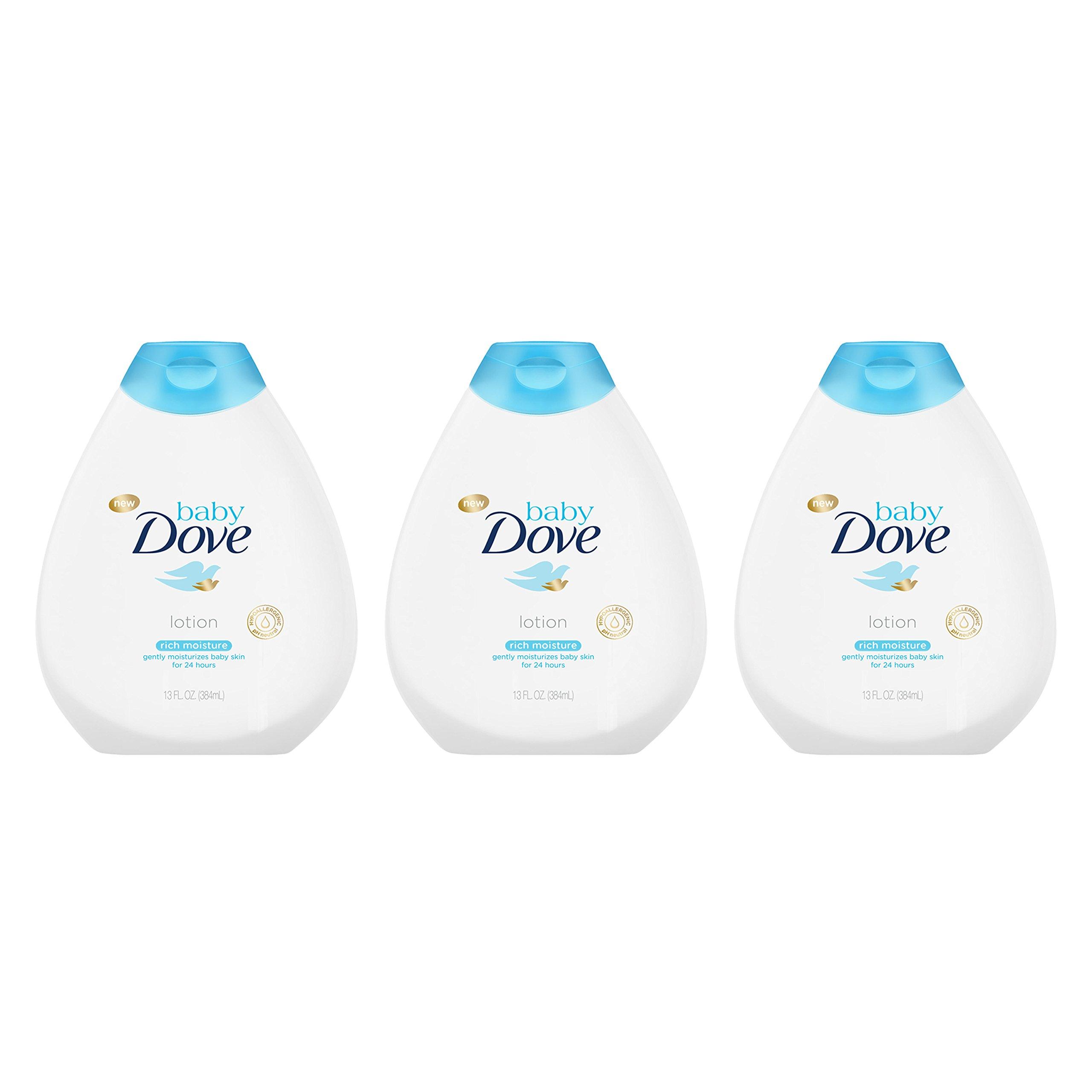 Baby Dove Lotion, Rich Moisture,13 oz, 3 Pack