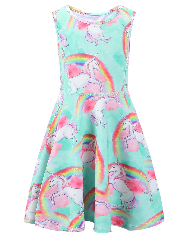 Liliane Unicorn Jacket Sweatshirt Unicorns for Girls Rainbow Dash Unicorn Dress Little Girls (A008,6-7Y)