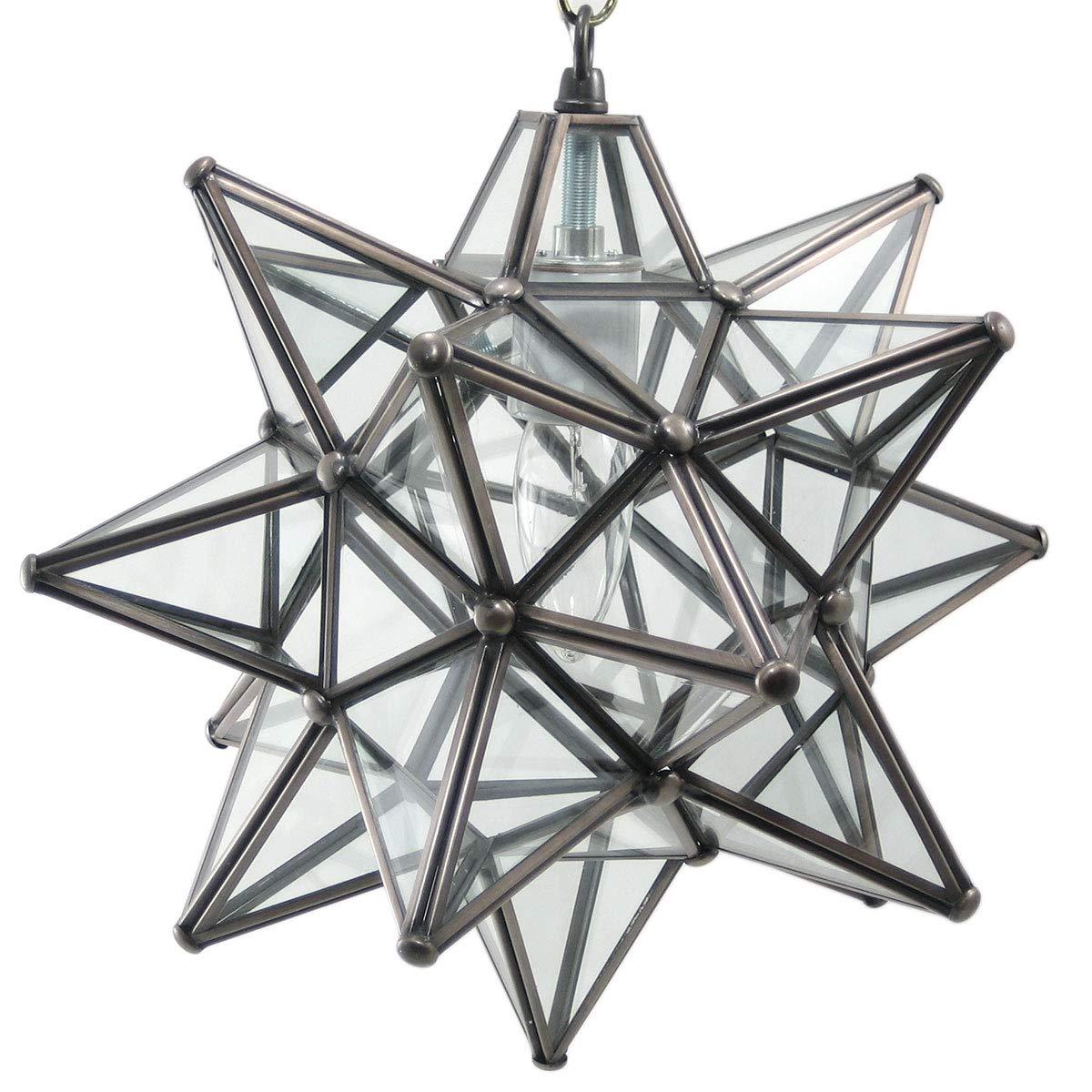 Duda home decor moravian star pendant light clear glass bronze frame 12