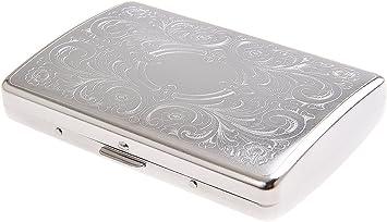 Quantum Abacus Pitillera de aleación de Zinc, Elegancia intemporal, para 18 Cigarrillos Delgados (Slim o Superslim, de 100mm) o 16 Normales, Mod. 791-03 (DE): Amazon.es: Equipaje