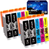 Uniwork Compatible Ink Cartridge Replacement for HP 564 564XL Replacement for Photosmart 6520 5520 4620 5510 C410a 6525 5514