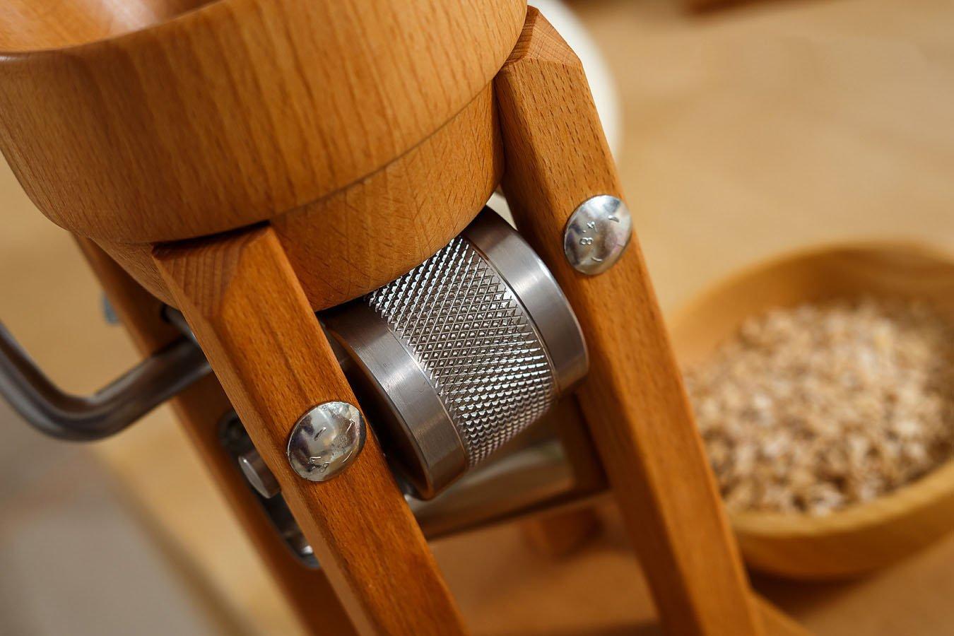 Eschenfelder Grain Flaker with Wood Funnel