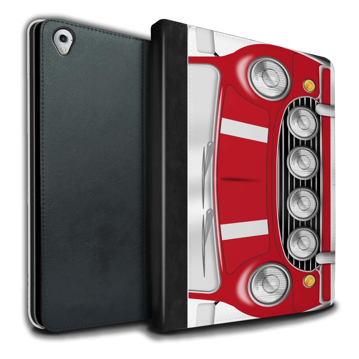 STUFF4 PU Leather Book/Cover Case for Apple iPad Pro 9.7 tablets / Solar Red Design / Classic Retro Mini Collection