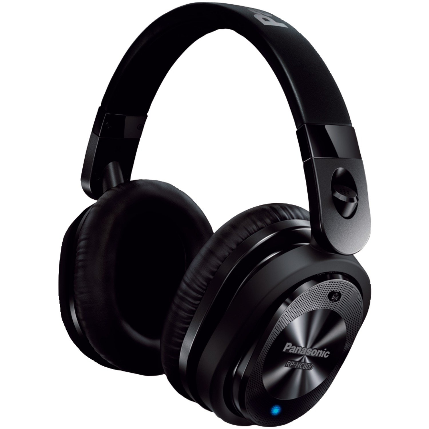 Panasonic Premium Noise Cancelling Over-the-Ear Stereo Headphones with Mic/Controller RP-HC800-K (Black) by Panasonic