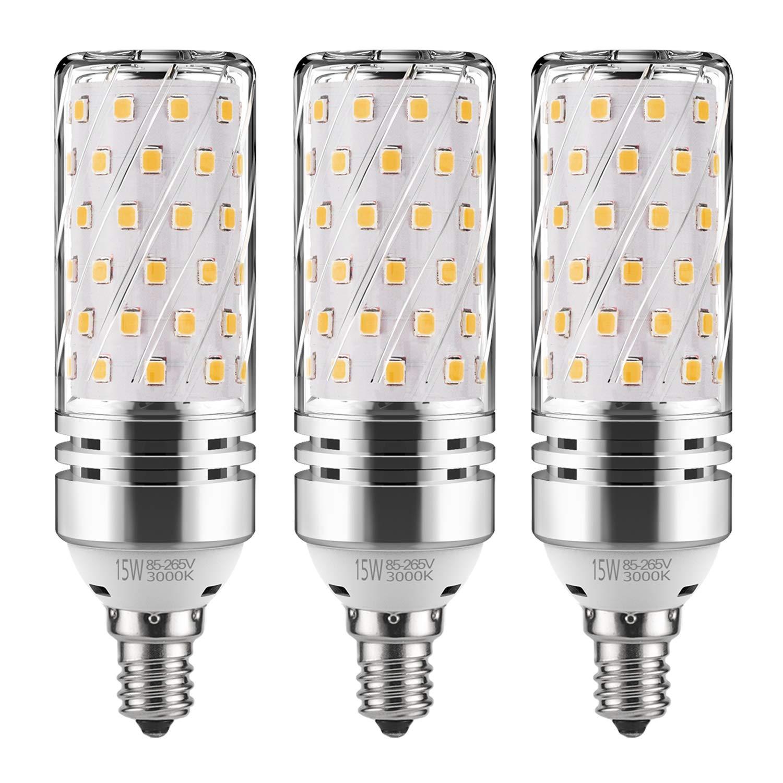 GEZEE Bombilla LED cilíndrica, base E12, 12 W, 120 V, 1000 lúmenes, ángulo del haz 360º, intensidad no regulable (paquete de 5 unidades): Amazon.es: ...
